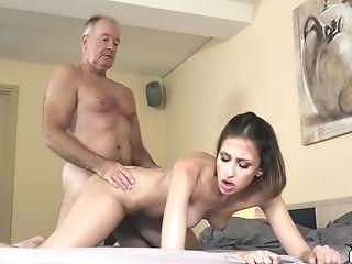 Nubile With Beautiful Sucking Lips Fucks Grand-pa Xxx