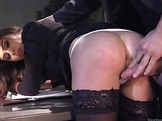 Lovely Lady Kacie Castle In Stockings Fucked Nice And Lengthy While Tied Up