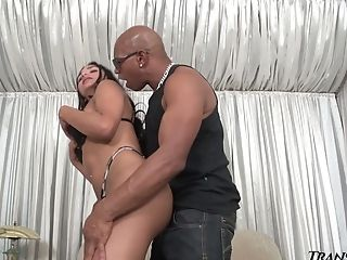 Supah Big-chested Shemale Drika Lima Blows Fuckpole After Being Ripped Up Hard