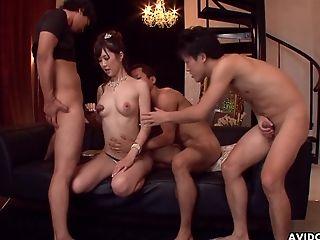 Japanese Beauty Queen, Kotone Amamiya Had Arousing Group Fucky-fucky, Uncensored