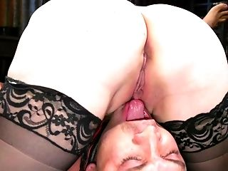 Bbw Blonde Mistress Aiden Starr Ties Up Her Submissive And Deepthroats His Jizz-shotgun