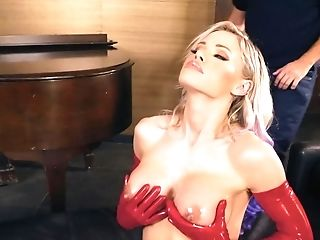 Incredible Beauty Jessa Rhodes With Flawless Knockers Gets Banged