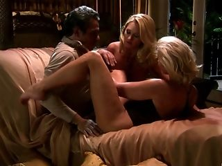 Alexis Malone And Her Hot Friend Get Their Forearms On A Stiff Dick