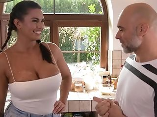Buxom Chloe Amour Kitchen Intercourse Flick