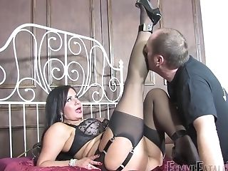 Dirty Whore Mistress R'eal Sits On The Face Of Her Boy Toy