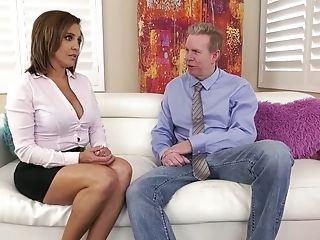 Dom Whorable Cougar Francesca Le Makes Fresh Gal Eat Her Snatch (ffm)