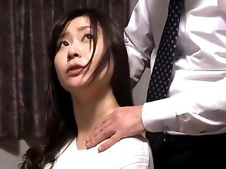 Asian Japanese Mummy Get Fucked By Blackmailer In Front Of Her Hubby