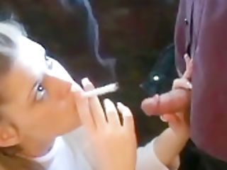 Voluptuous Youthfull Blonde Honey Knows How To Smoke And Suck A Dic