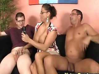 Spex Stepmom Jerking Dicks Until Jizz Shot