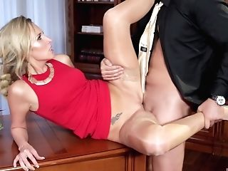 High Class Blonde Cougar Jenny Simons Pounded And Gets Her Puss Creamed