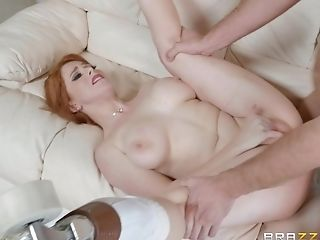 Insatiable Red-haired Penny Pax Spreds Her Gams For A Hard Boner