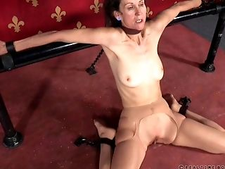 Matures Beauty Is Tied Up And Spanked Just Like She Is Worth It
