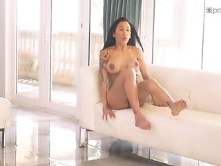 Cock-squeezing Big-boobed Brown-haired Teenager Amia Miley Sits On A Fat Man-meat And Rails It