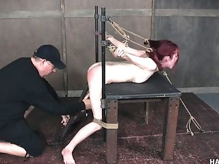 Enslaved Nubile Red-haired Breezy Penny Lay In A Xxx Tying Session