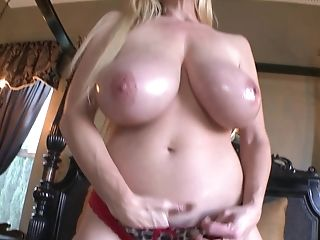 Kelly Madison Takes Off Her Hooter-sling During A Fellatio Session