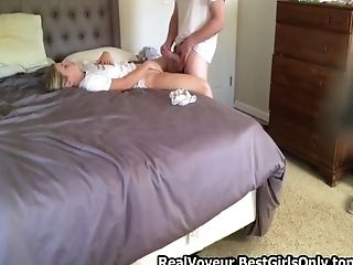 Fucking My Ex Wifey On My Bedroom Spycam