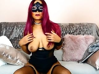 Missfluo - Sexy Mistress Gives Cei Instructions While Taunting With Her Bod