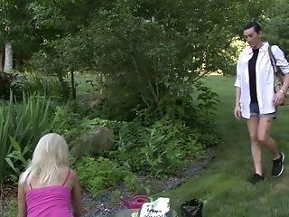 Matures Juggy Ash-blonde Woman Erica Lauren Tempts Non-traditional Brunet Shemale