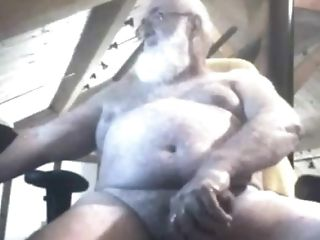 Grand-pa Jizm On Webcam