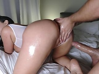 Man Fulfills A Desire Of Many Guys And Fucks Porn Industry Star Angela Milky