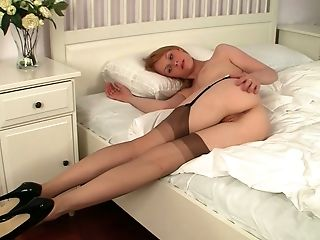 Amber Is Horny Beyond Belief And She Loves Displaying Off Her Cooter In The Bedroom
