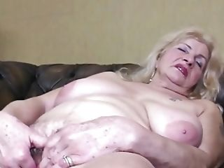 Old Granny With Big Saggy Tits And Thirsty Cunt
