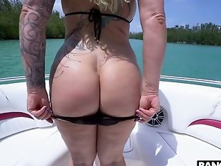 Giant Boobed Bombshell Ryan Conner Gets Analfucked On The Yacht