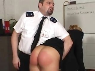 Officer Penalizing Blonde Dame
