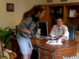 Big Tits Latina Cougar Hunter Bryce Gets Mischievous In The Office