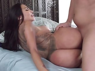 Dark Haired Bitch With Gigantic Boobies Wants Xander's Big Pecker