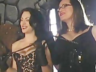 Fem Dom Mistresses Cock And Ball Torture Dicklet Fuck Toy In Humbler