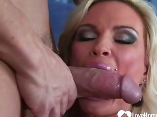 Huge-boobed Blonde Wifey Cheats With The Neighbor