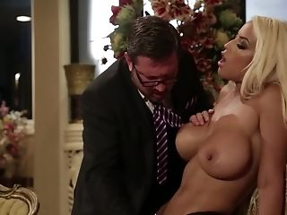 Bossy Beauty Lets Him Suck Her Titties And Fuck Her Beaver