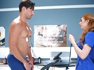 Crimson-haired Doc Lauren Phillips Runs Sexual Tests With Ryan Driller