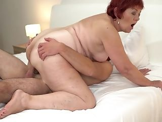 Buxom Brief Haired Matures Ginger-haired Marsha Gets Jizz On Her Hairy Muff