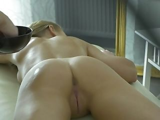 Sabrina Blanc Gets Creampied On The Rubdown Table