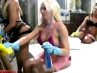 Group Of Absolutely Horny Shemales Doing The Buttfuck Drilling