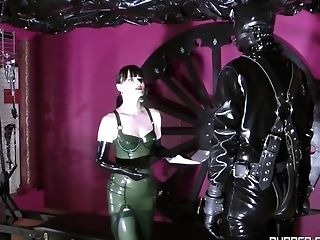 Cheyenne De Muriel Plays Powerful Bang-out Games With Her Friend While He Is Tied