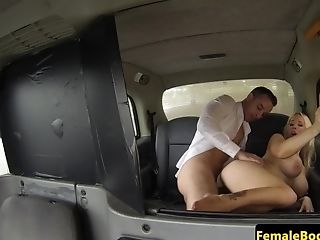 Gorgeous Uk Cabbie Blows Spear And Plums