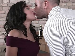 Trampy Dark-haired Liv Revamped Gets Dual Penetrated On The First-ever Date
