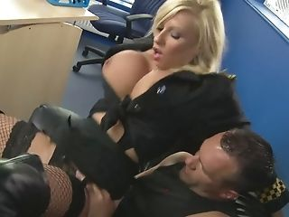Blonde Chick Michelle Thorne Gets Her Mitts On A Big Stiff Dick