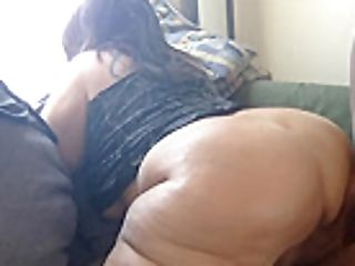 Phat Ass Milky Girl Takes Mid Day Back Shots... Chubby Booty Jiggles
