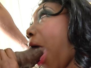 Dark-hued Chick Nyomi Banxxx Agrees To Suck A Shaft Until He Cums On Her Face