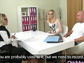 Inexperienced Euro Cuckqueaned At Fuck-fest Casting