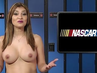 Huge-titted Brown-haired Shares The News As Well As Her Orgasms