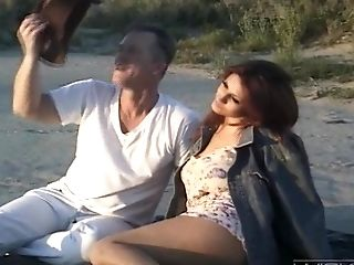 Outdoors Fucking With Huge-titted Sandy-haired Fledgling Cougar Rayleene
