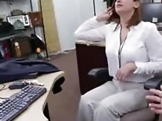 Sexually Harassed Mummy Got Fired And Goes To A Pawn Shop To Sell Some Stuff
