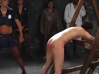 Awesome Sweetie Screams Noisily While A Mistress Spanks Her Booty