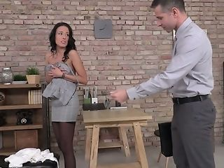 Hypnotizing Dark Haired Assistant Lexi Layo Sultry Rails Fat Pink Cigar