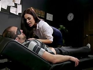 Therapist Drills Boy's Donk With Strap Dildo And Gives Jizm For Degustating